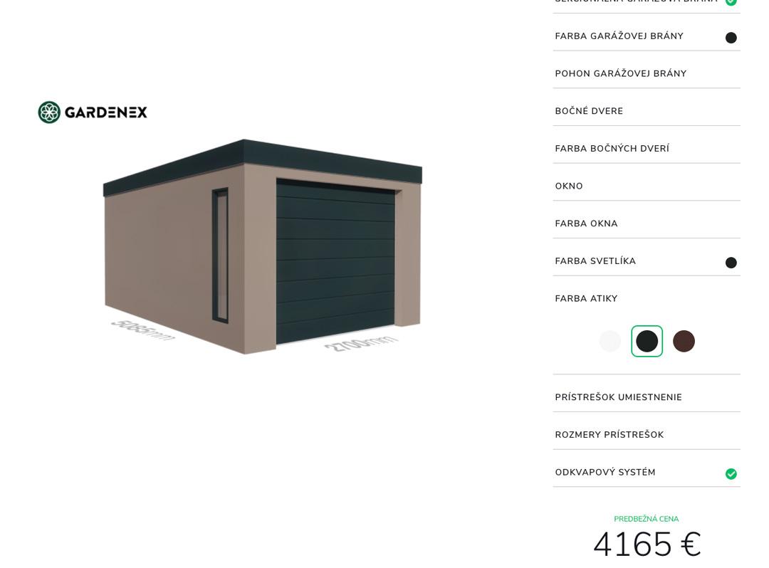 Gardenex konfigurátor